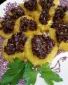 Slices of Orange with Homemade Tapenade and Fennel Seed